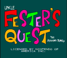 Addams Family The Uncle Festers Quest USA 004 256x224 Festers Quest NES Nintendo Review Screenshot