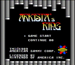 Arkistas Ring USA 003 256x224 Arkistas Ring NES Nintendo Review Screenshot