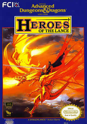 ADD Heroes AD&D: Heroes of the Lance NES Nintendo Review Screenshot