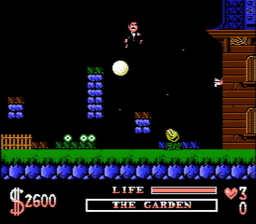 Addams Family The USA 013 256x224 The Addams Family NES Nintendo Review Screenshot