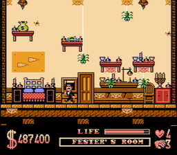 Addams Family The USA 128 256x224 The Addams Family NES Nintendo Review Screenshot