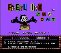 Felix the Cat USA 001 256x224 Felix the Cat NES Nintendo Review Screenshot