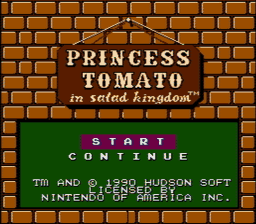 Princess Tomato in Salad Kingdom USA 002 256x224 Princess Tomato in the Salad Kingdom NES Nintendo Review Screenshot