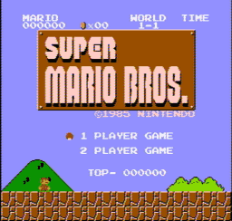 Super Mario Bros. Japan USA 001 256x244 Super Mario Bros. NES Nintendo Review Screenshot