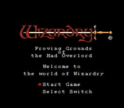 abWizardry Proving Grounds of the Mad Overlord USA 001 256x224 Copy Wizardry   Proving Grounds of the Mad Overlord NES Nintendo Review Screenshot