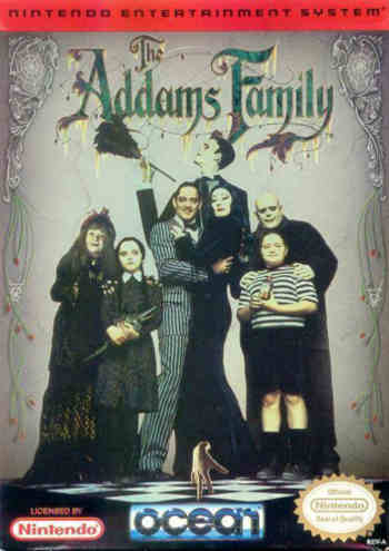 addams family usa box The Addams Family NES Nintendo Review Screenshot
