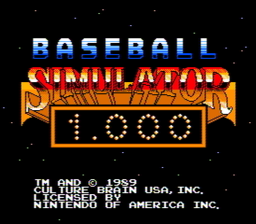 Baseball Simulator 1.000 USA 003 256x224 Baseball Simulator 1.000 NES Nintendo Review Screenshot