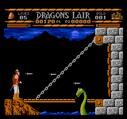 Dragons Lair USA 008 Dragons Lair NES Nintendo Review Screenshot