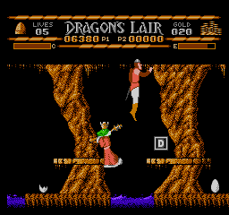 Dragons Lair USA 115 Dragons Lair NES Nintendo Review Screenshot
