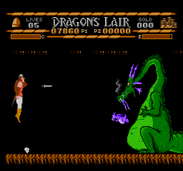 Dragons Lair USA 120 Dragons Lair NES Nintendo Review Screenshot