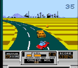 RoadBlasters USA 121 256x224 RoadBlasters NES Nintendo Review Screenshot