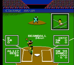 baseball1Simulator 1.000 USA 024 256x224 Baseball Simulator 1.000 NES Nintendo Review Screenshot