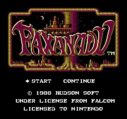 Faxanadu USA 001 Faxanadu NES Nintendo Review Screenshot