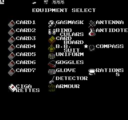 Metal Gear USA 398 Metal Gear NES Nintendo Review Screenshot