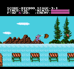 Ninja Gaiden USA 126 Ninja Gaiden NES Nintendo Review Screenshot