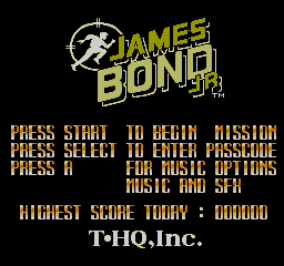 James Bond Jr USA 0031 James Bond Jr. NES Nintendo Review Screenshot