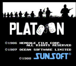 Platoon USA Rev A 001 256x224 Platoon NES Nintendo Review Screenshot