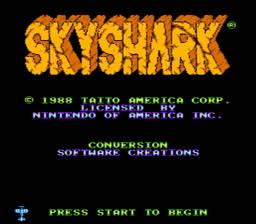 Sky Shark USA Rev 0A 001 256x224 Sky Shark NES Nintendo Review Screenshot
