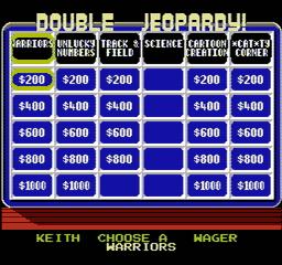 Jeopardy USA 205 256x240 Jeopardy! NES Nintendo Review Screenshot