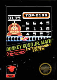 aDonkey Kong Jr. Math USA aaEurope 188x266 Donkey Kong Jr. Math NES Nintendo Review Screenshot