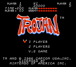 Trojan.2013 10 27 19.55.06 Trojan NES Nintendo Review Screenshot